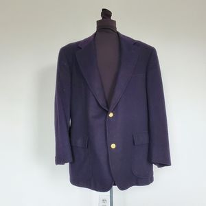 Brooks Brothers Blue Cashmere Blazer Sport Coat 41
